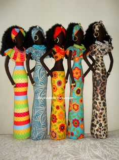 Creative New Living Room Decoration Ornaments Home Furnishing Jewelry Figure Doll African Dolls, African American Dolls, African Art, Doll Crafts, Diy Doll, Bottle Art, Bottle Crafts, Diy Christmas Videos, African Crafts