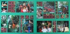 Animal Kingdom collage scrapbook page.