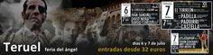 Padilla, Paquirri, Castella, Fandiño, David Mora... en Teruel...¿Te vienes? http://www.toroticket.com/130-entradas-toros-teruel