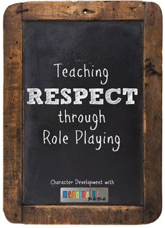 Respect, as I mentioned in my last post, comes in lots of different forms. We need to have respect for God, laws, our elders, our peers, our belongings, this planet, ourselves, etc. One way that children learn is through role playing, so I have tried to incorporate this activity into my character development series in a variety of ways. Teaching respect through role playing is one of the many ways…