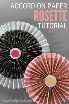Learn how to make an accordion paper rosette! Use them as gift toppers, party decor, and more! Click here for the tutorial and video! #thecraftyblogstalker #paperrosette #papercrafting #papercrafts Fun Crafts, Crafts For Kids, Paper Rosettes, Mini Canvas Art, Inspirational Wall Art, Diy Party, Party Ideas, Diy Wall Art, Paper Gifts