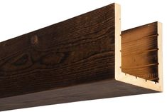 Our box beams provide all of the characteristics of a solid wood beam, at a fraction of the weight! Always made from real oak or cedar, 15 colors. Big Bear Cabin, Metal Beam, Cedar Box, Faux Wood Beams, Wood Crosses, Wood Siding, Ceiling Beams, Custom Boxes, Wood Boxes