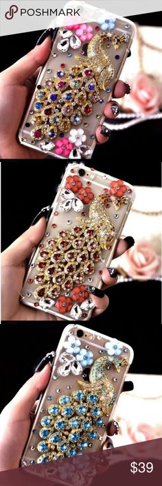 COM.SOON 3DLuxury Crystal Rhinestone iphone case 3D Bling Luxury Crystal Rhinestone Peacock Flower Diamond Hard Cover Case *Brand New case *Fashion design, easy to put on and easy to take off. *Perfectly fits the shape. *Protect your from dust, scratching and shock. *Protect your valuable investment from scratched and damage. *Material : PC. Accessories Phone Cases