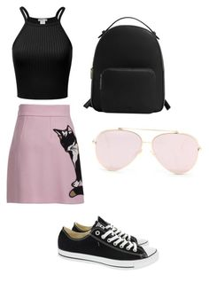 """""""Untitled #119"""" by vivid-styles on Polyvore featuring MSGM, Converse and MANGO"""
