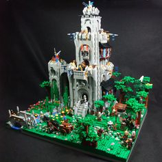 https://flic.kr/p/6728C7 | Castle Caraval, Revisited | I decided that the Old, decrepit Caraval could use some sprucing up, and a larger base. The total time for this from ripping up the old tower to putting the last piece was just over 1 day. More on Brickshelf