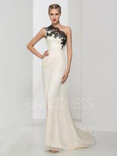 ericdress.com ofrece una alta calidad  Ericdress Una línea de un hombro Appliques el vestido de noche largo vestidos del diseñador precio unitario de $ 109.24.