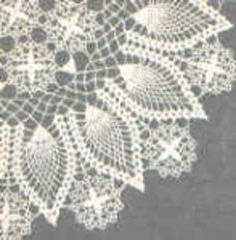 Crown of Pineapples Doily
