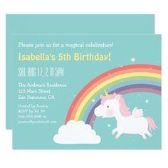 Unicorn Birthday Invitation Rainbow Girls Party Invitations Parties
