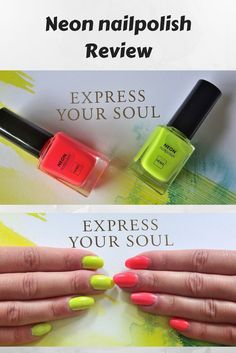 Neon nailpolish review. #hema #nagellak #neonnagellak #neonnailpolish #review #neonnails #expressyoursoul