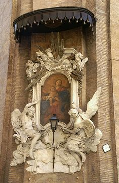 Rome, Piazza dell' Orologio, Madonna