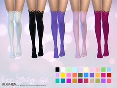 Lace Stockings • 30 Colors • Standalone & Custom Thumbnail • Teen, Young Adult, Adult, Senior Download #1: Mediafire | TSR Download #2: Mediafire | TSR
