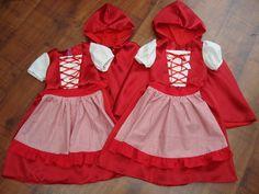 Costume Petit Chaperon Rouge taille 2 au 8 ans bis : Ecole et loisirs par velours-et-soie-couture