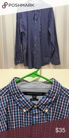 Tommy Hilfiger Classic fit - NWOT Never worn! Class fit and classic pattern - blue/white/red Tommy Hilfiger Shirts Dress Shirts