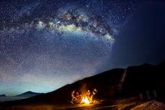 Eta Aquarid Meteor Over Mount Bromo, Indonesia