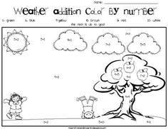 Weather Addition Color by Number