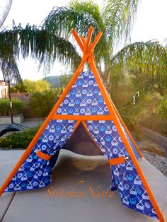 Star Wars Teepee Tent Blue w/Orange Accents by StitchinNista & Baby Blue Carousel TeePee (Ready to Ship) - Fort Tent Indoor ...