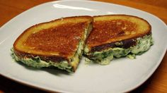 Spinach Calzone Grilled Cheese