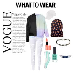 """Cool Girl (L. #9)"" by juliettemeunier on Polyvore featuring Topshop, Puma, NYX and New Look"