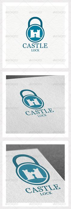 Castle Lock Logo Design  #GraphicRiver         ­Protect your belongings with this castle lock.