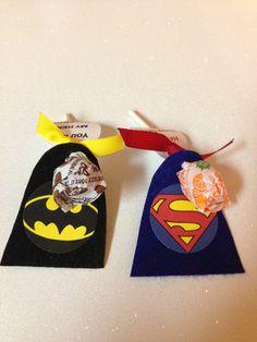 Super hero lollipop favors