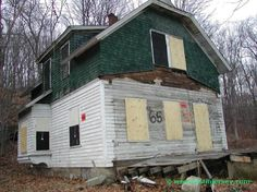 Demon's Alley in West Milford, New Jersey is a cluster of creepy old abodes that has sat vacant for as long as anyone can remember. Entire story and more pics:    http://www.lostdestinations.com/demons.htm