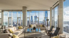 Experience Tribeca at New Heights in This $65 Million Duplex Penthouse – Robb Report Imagines, Terraces, Pent House, Balconies, Luxury Homes, Bathrooms, Living Spaces, House Design, Curtains