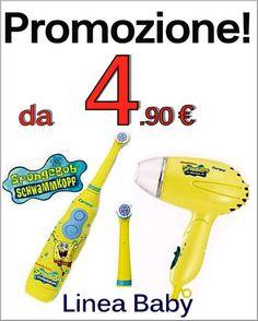 #promozione ed #offerte #spazzolinielettrici , #ricambi , #phon #spongebob . Con #smookiss #saldi e qualità ai #prezzi più bassi