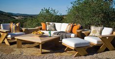 It's Spring and the weather has been beautiful...time to give you outdoor space some TLC!  Panache is proud to offer Sunbrella outdoor fabrics for creating your outdoor oasis.  Sunbrella is known for quality, fade (and stain!) resistant, durable, outdoor fabric...and easy to clean!  From recovering your existing set to adding a few pillows or outdoor window treatments, Panache can help from begining to end.