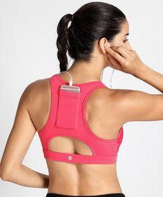 Front zip sports bra with back cell phone pocket - tightbodi Front Closure Sports Bra, Gym Bra, Bra Video, Yoga Bra, Sport Wear, Bra Tops, Sports Women, Pocket, Peanuts