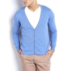 Cotton Jersey Cardigan with Elbow Patches