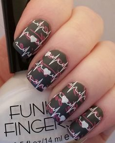 Matte nail polishes are the new trend and with nail art design, it would even make your nails look ravishing. Here's a design you might need an expert to do but is definitely worth it.