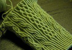 Twisted Stitch! Eunny Jang's free Bayerische sock pattern with tutorials here: http://www.eunnyjang.com/knit/2006/09/bayerische.html