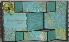 Tri Fold Birthday Card - Scrapbook.com