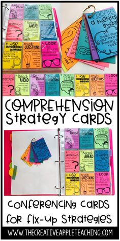 Conferencing with Comprehension 'Fix-Up' Strategy Cards - The Creative Apple Teaching Resources