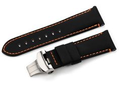 24mm Handmade Kevlar Leather Watch Strap Band for PAM Men Watch Deployant Style