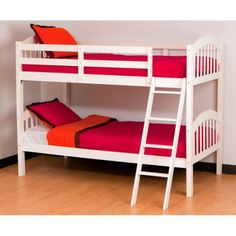 better homes and gardens lillian twin bunk bed, white - walmart