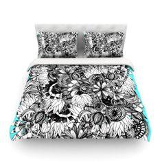 "Anchobee ""Blumen"" Cotton Duvet Cover | KESS InHouse"