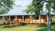 Cracker Style Log Homes - Cypress, Southern Yellow Pine, White Pine, Custom Plans, Site Built Log Homes, Log Cabin Kits - Williston, Florida.