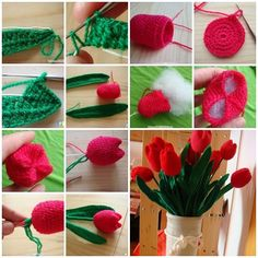 How to Crochet Beautiful Tulip Flower #Crcohet #Tulip #Flower