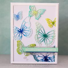 Annikarten: Seize the Birthday: Animals Memory Box - Floating Butterfly Frame Inky.stamp.Eigendesign.Stempel - Wortspiel