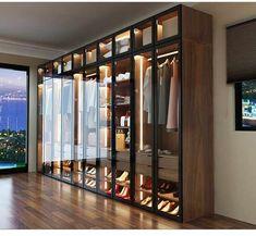Source Hot Selling American Style Glass Door Modern Design Wardrobe on m. Wardrobe Room, Wardrobe Design Bedroom, Luxury Bedroom Design, Home Room Design, Home Interior Design, Modern Wardrobe, Modern Closet, Wardrobe Interior Design, Wardrobe Sale