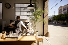 Front Coffee, San Francisco, 150 Mississippi St./ at 17th St  Mariposa St, Portrero Hill; frontsf.com  This small micro-roastery's coffee bar  taste workshop is literally at the front of an electric film and robotics studio. The baristas roast on a Probatino machine, aiming to highlight the origin and harvest time of the beans.
