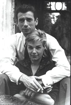 Simone Signoret et Yves Montand