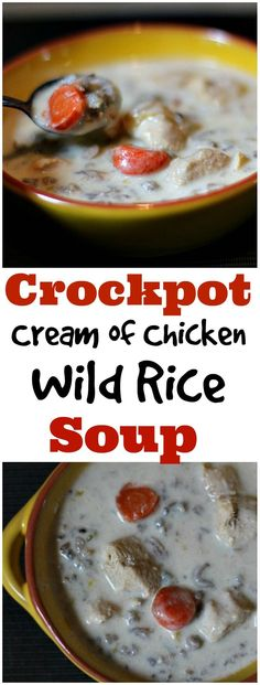 Rich and creamy, this Cream of Chicken and Wild Rice Soup was a cinch made in the crock pot. Homemade chicken soup recipes are just the best and even better using a slow cooker.