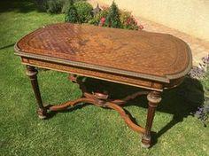 XVIIIe - Table en Marqueterie et Bronze époque Napoléon III, Heitzmann Fabrice Antiquités, Proantic