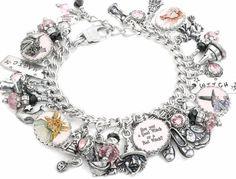 Wizard of Oz Charm Bracelet, Good Witch Bad Witch Jewelry, Witch Bracelet…