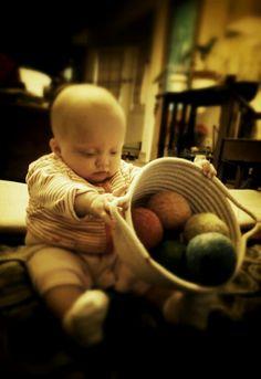 Montessori Infant room...My new felt balls...LittleOrchardMontessoriSchool.com