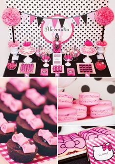 Hello Kitty Baby Shower, Hello Kitty Theme Party, Hello Kitty Themes, Decoracion Hello Kitty, Hello Kitty Rosa, Ideas Decoracion Cumpleaños, Hallo Kitty, Buffet Dessert, Bar A Bonbon