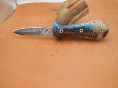 Custom Damascus Oyster/Clam Shucker with Pinecone in resin Handle and Mosaic pin Tomato Knife, Shucking Oysters, Camp Gear, Specialty Knives, Go Outdoors, Shop Till You Drop, Steel Bar, Custom Knives, Pinecone