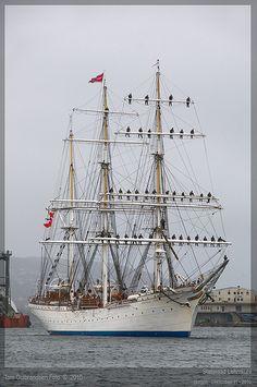 Statsraad Lehmkuhl, tallship, of Bergen, NORWAY,